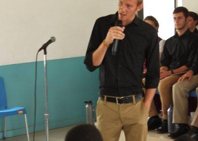 Preaching in a Ghanaian school